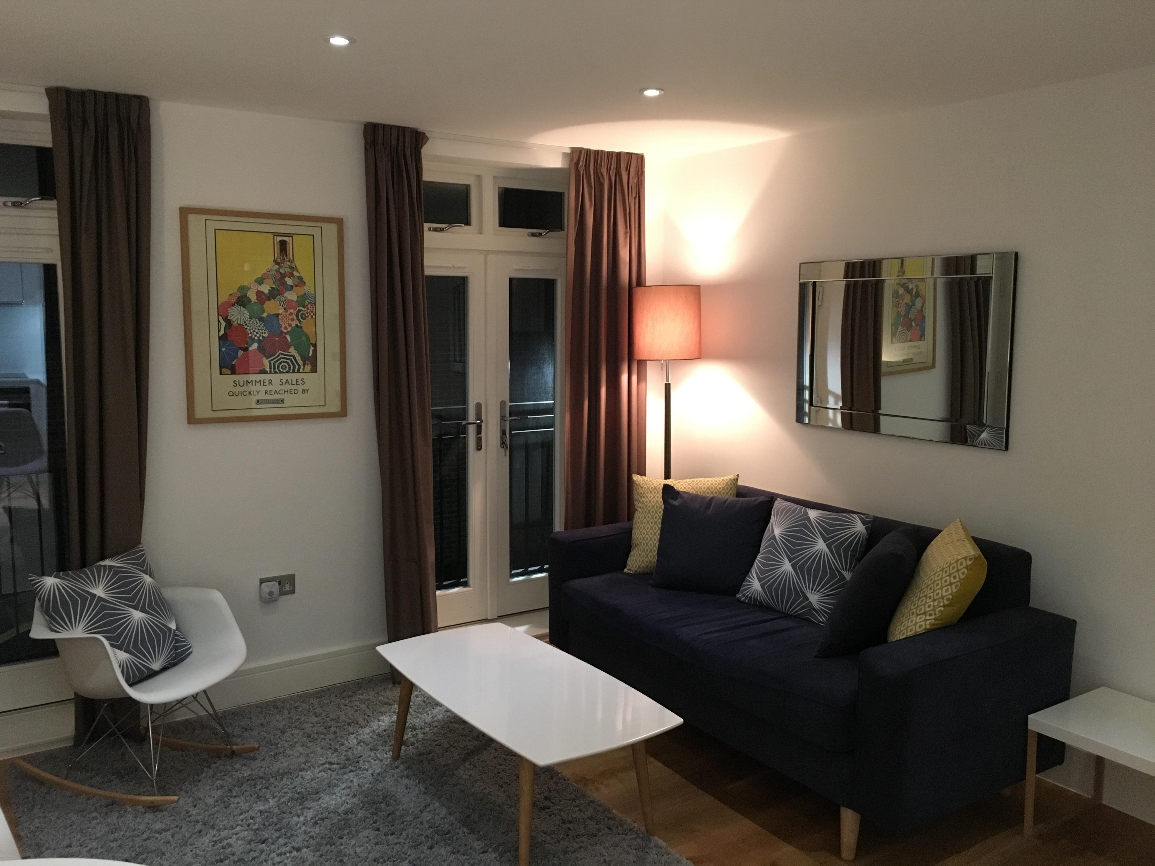 Stylish lounge at Still Life Warren Street Apartment - Citybase Apartments