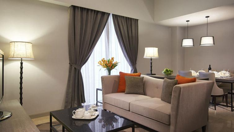 Sophisticated living area at Regency House Apartments, Singapore - Citybase Apartments