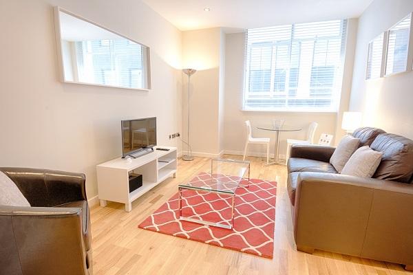 Living room at Watling Street Apartments - Citybase Apartments