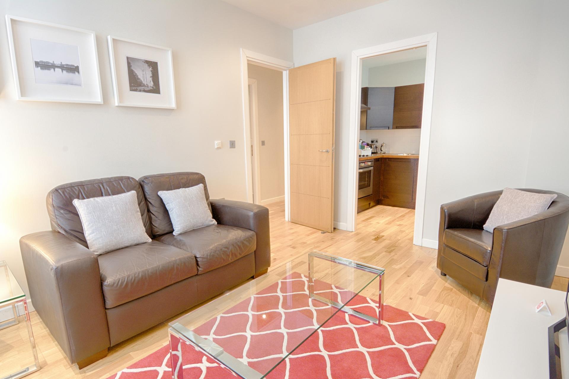 Sofa at Watling Street Apartments, St Pauls, London - Citybase Apartments