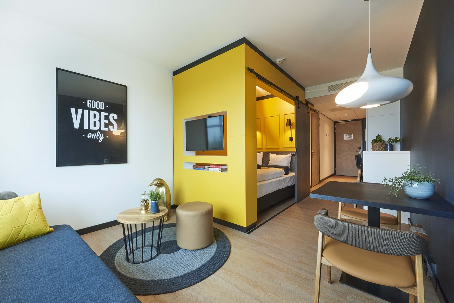 Living space at Cityden Up Apartments, Amsterdam - Citybase Apartments