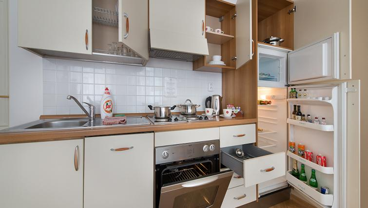 Equipped kitchen at Suite Home Prague - Citybase Apartments