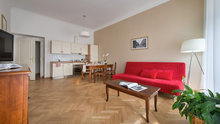 Living space at Suite Home Prague - Citybase Apartments