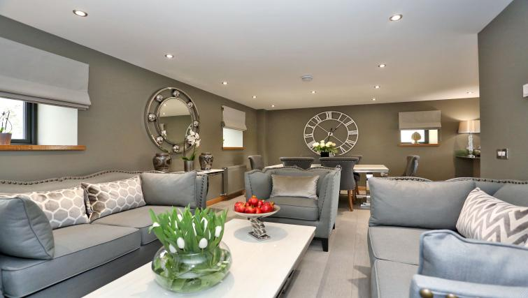 Stunning living area at West Cults Apartments - Citybase Apartments