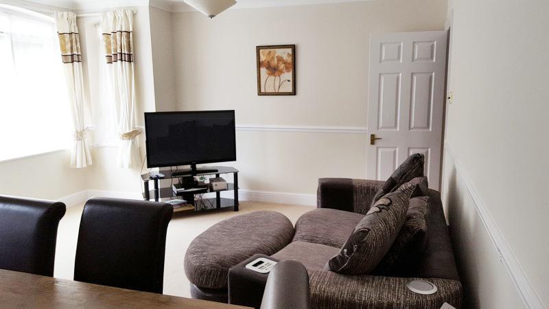 Living room at Latium Close Apartment - Citybase Apartments