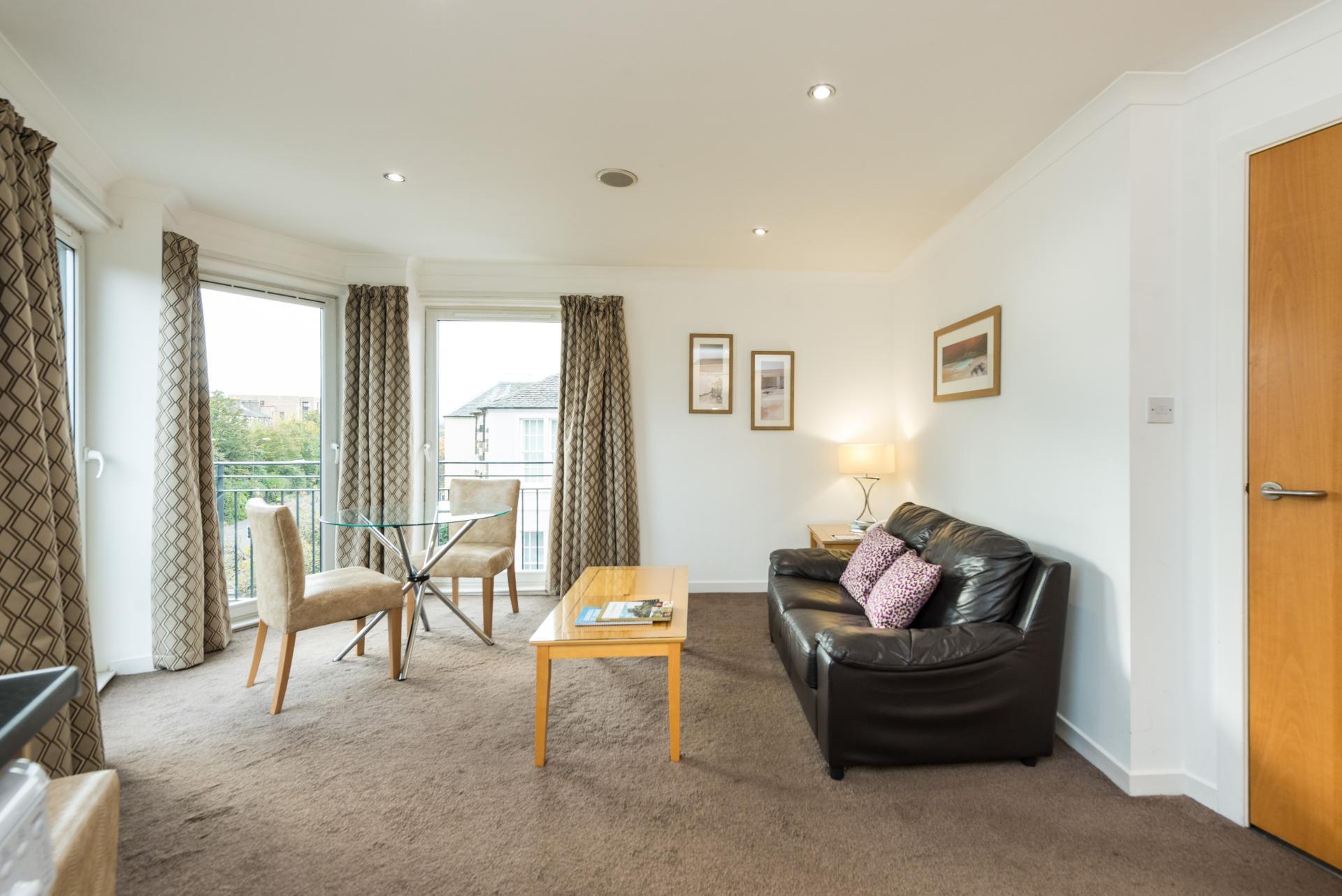 Bright living area at Harris Apartments, West End, Edinburgh - Citybase Apartments