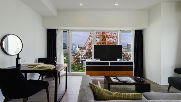 Living space at Oakwood Apartments Azabudai - Citybase Apartments