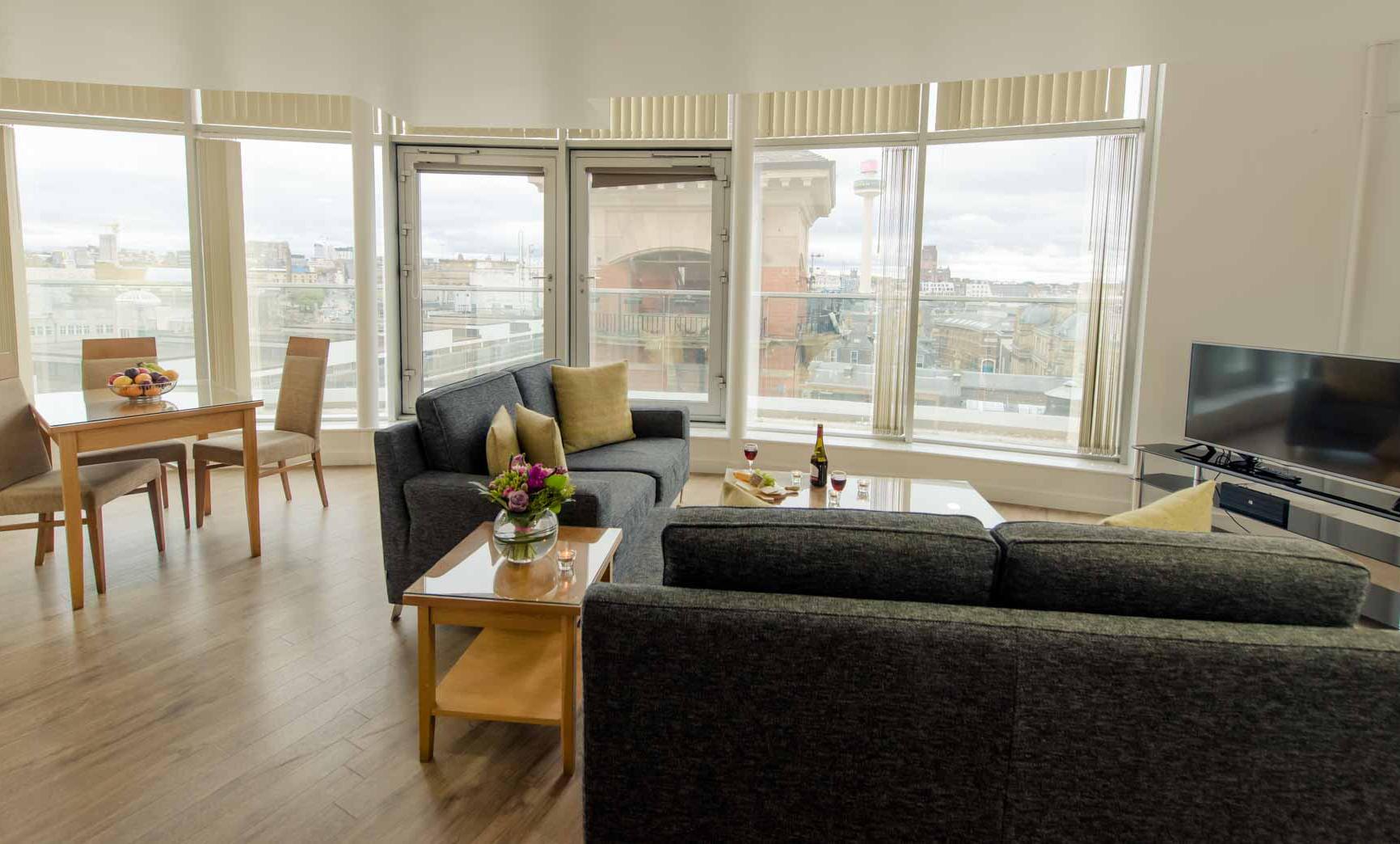 Window at Premier Suites Liverpool - Citybase Apartments
