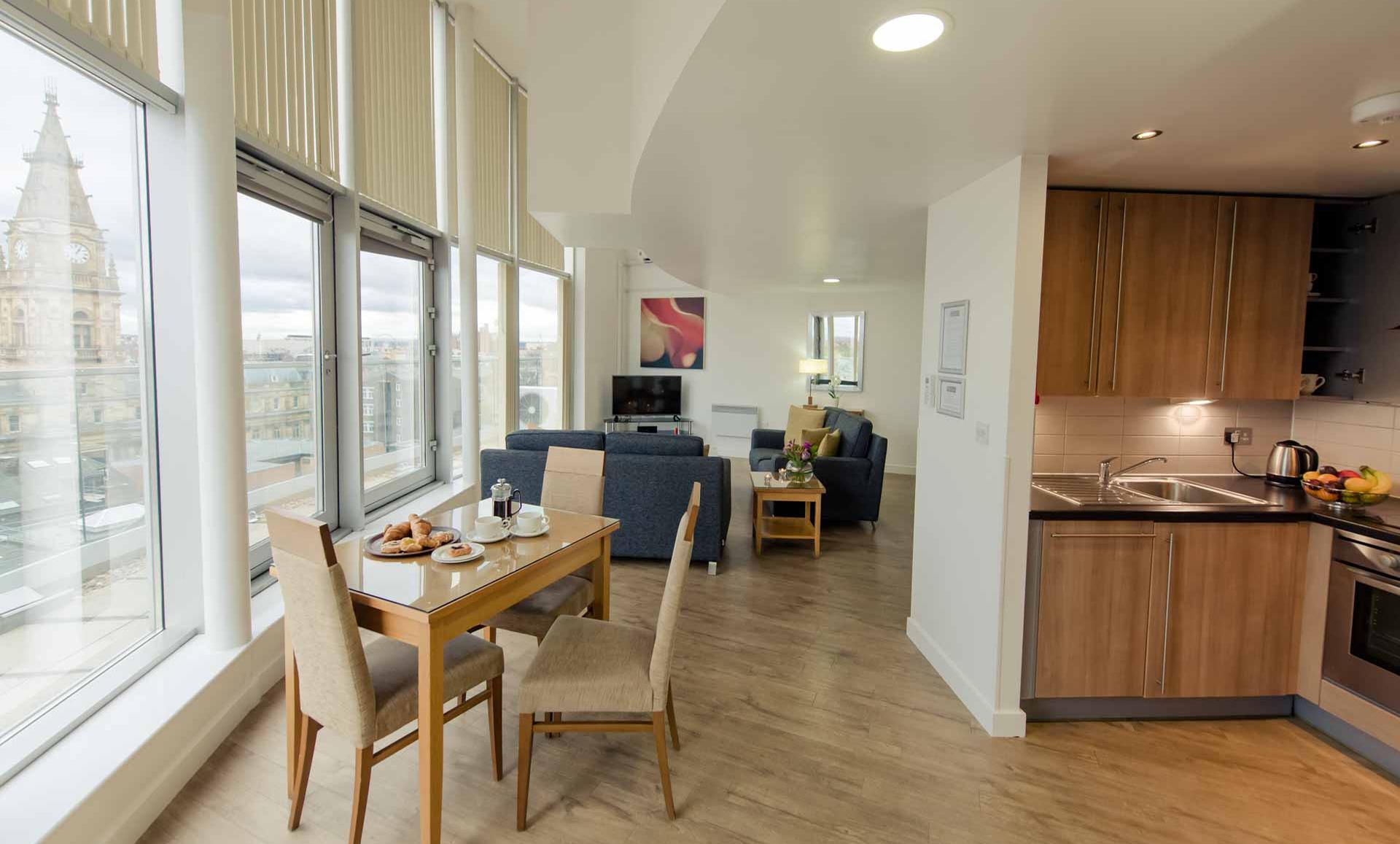 Open-plan at Premier Suites Liverpool - Citybase Apartments