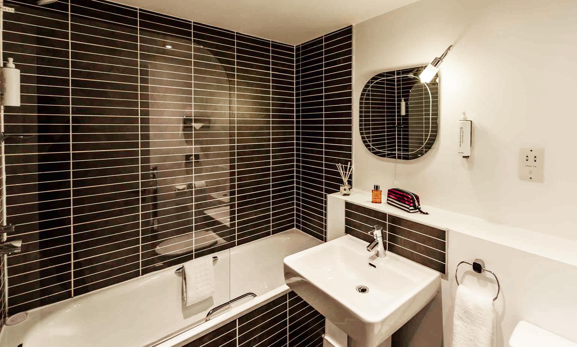 Bathrooms at Premier Suites Liverpool - Citybase Apartments