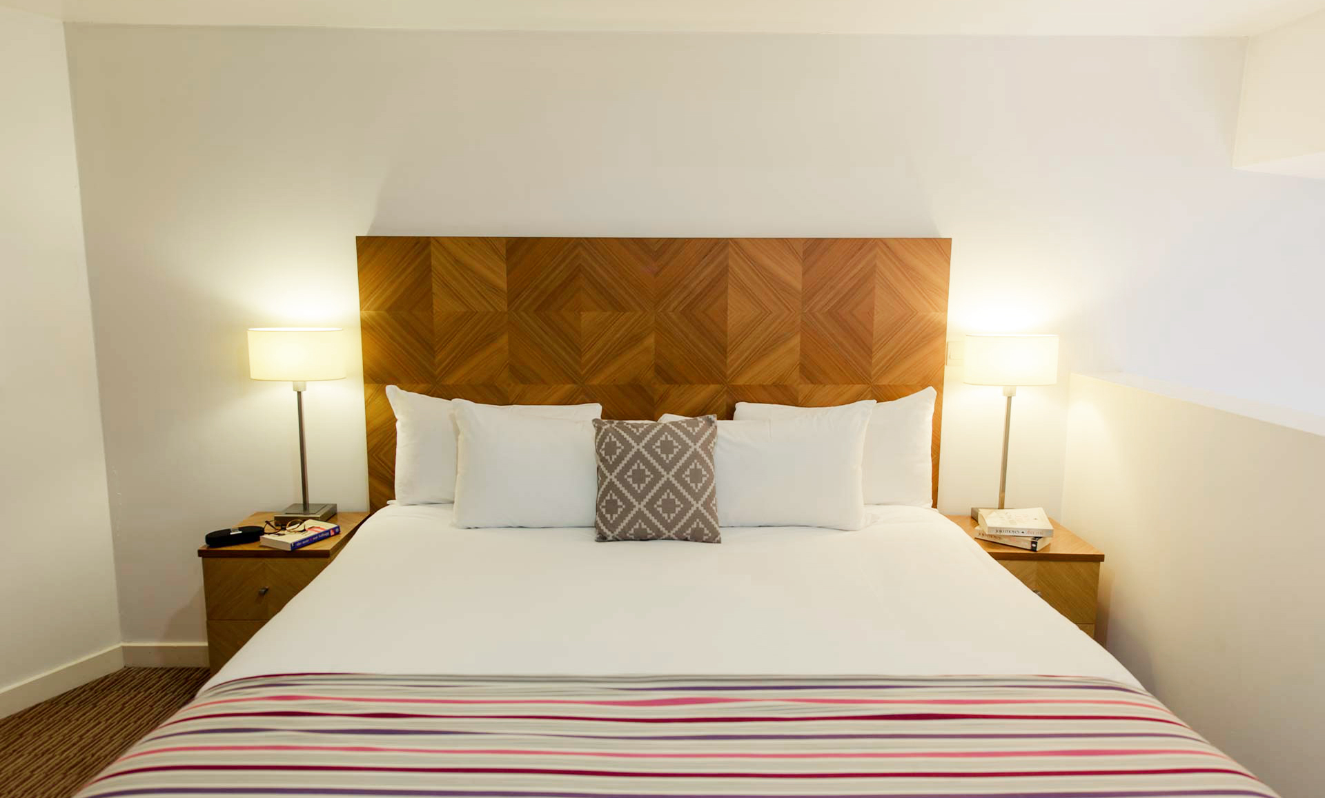 Bed spread at Premier Suites Liverpool - Citybase Apartments