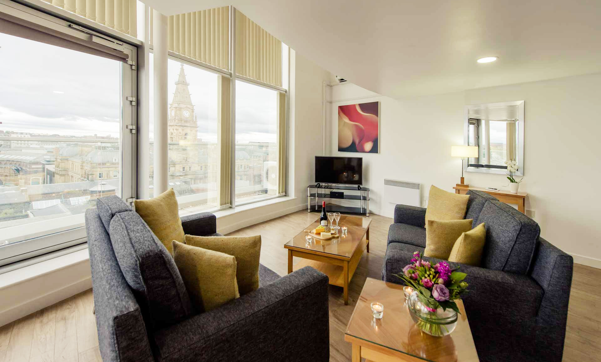 Living room at Premier Suites Liverpool - Citybase Apartments