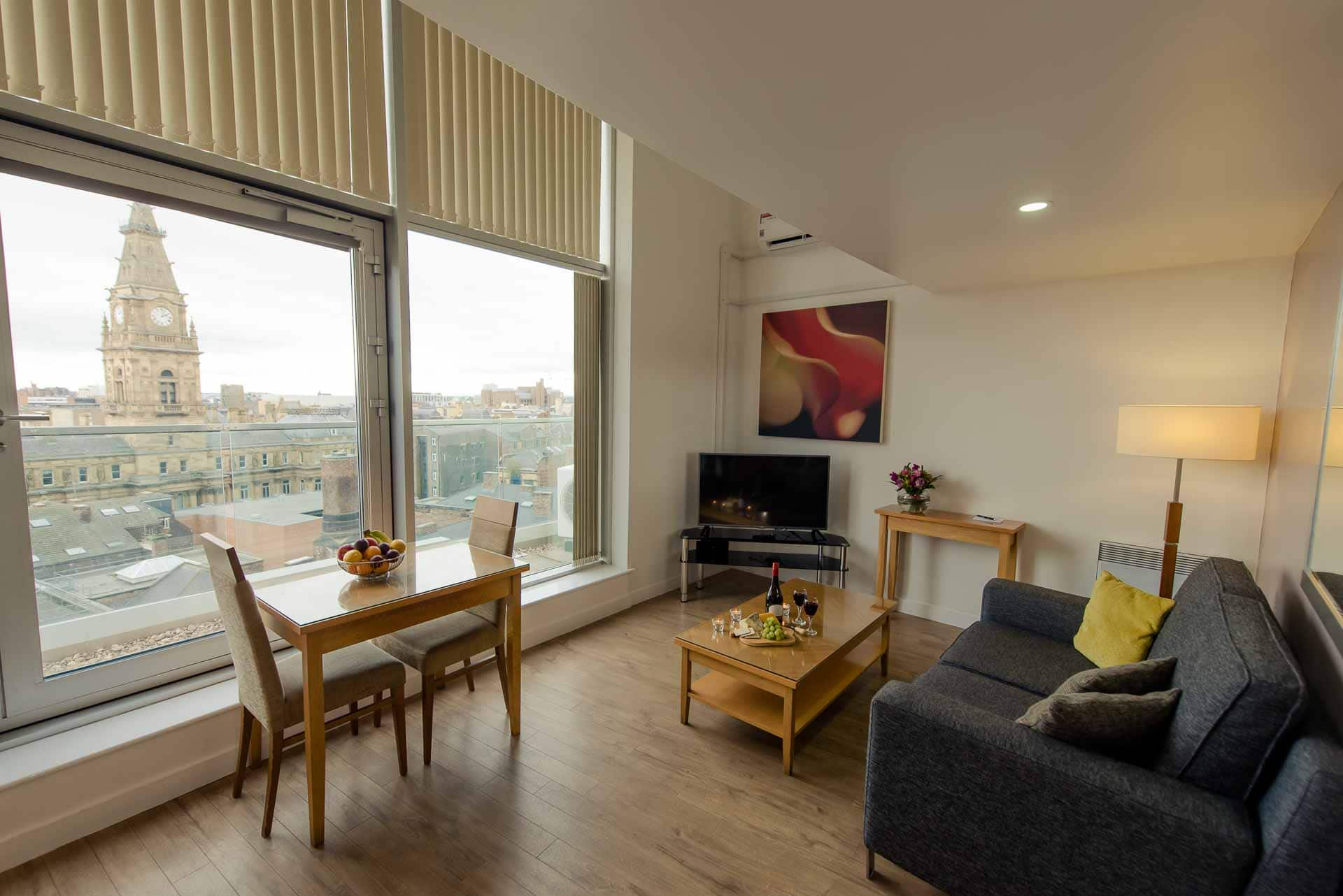 Living room at Premier Suites Liverpool, Centre, Liverpool - Citybase Apartments