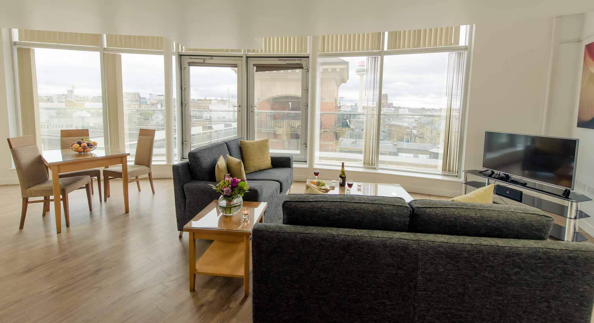 spacious living at Premier Suites Liverpool, Centre, Liverpool - Citybase Apartments