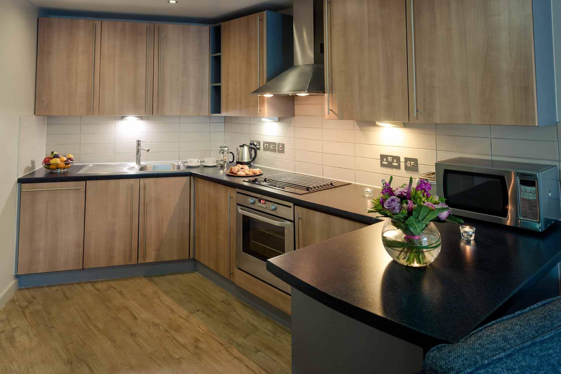 Kitchen at Premier Suites Liverpool, Centre, Liverpool - Citybase Apartments