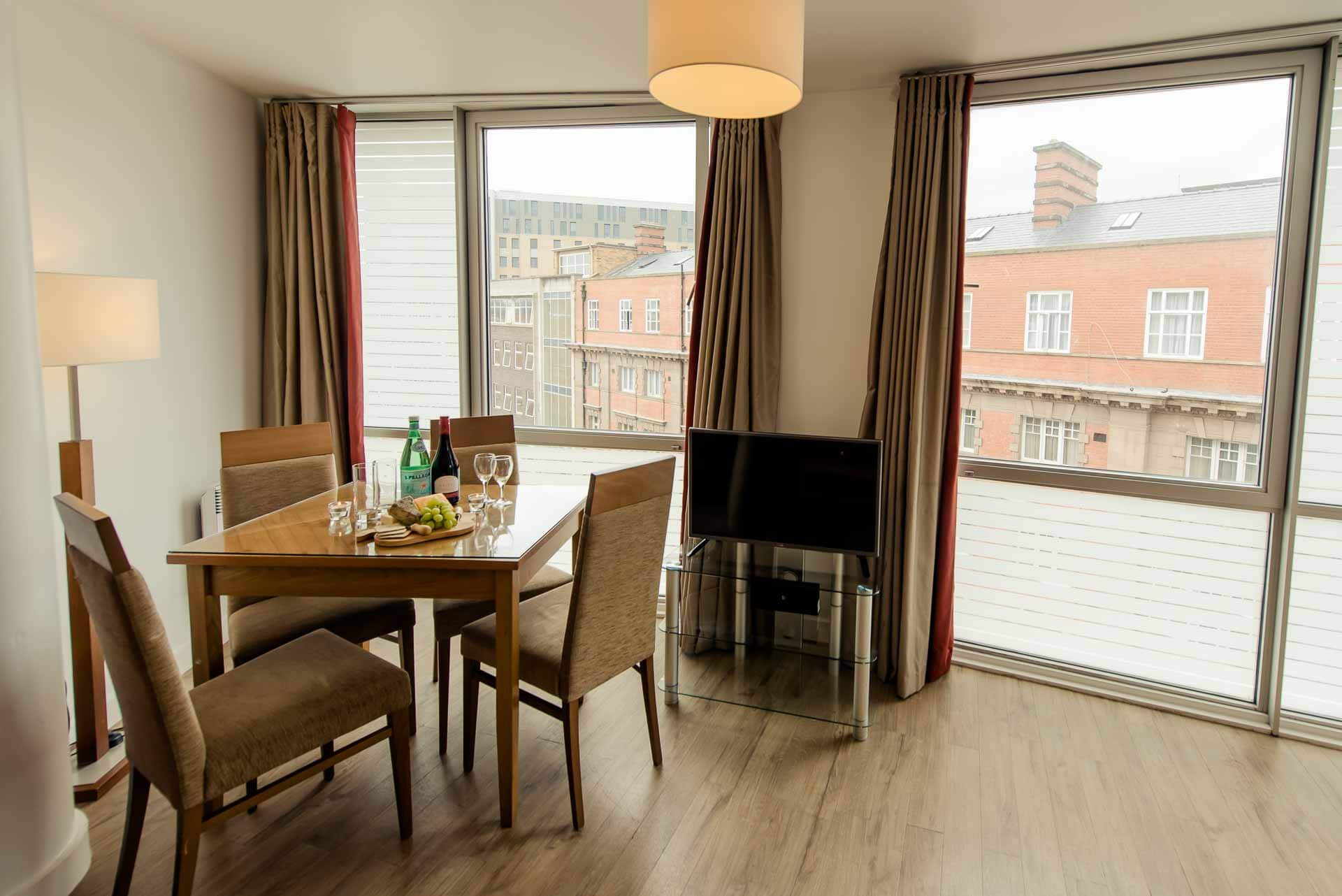 Dining area at Premier Suites Liverpool, Centre, Liverpool - Citybase Apartments