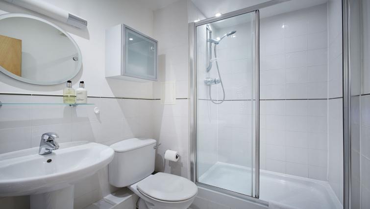 Bathroom at Riverbank Point Apartments - Citybase Apartments