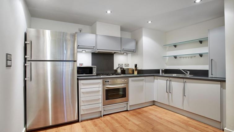 Kitchen at Riverbank Point Apartments - Citybase Apartments