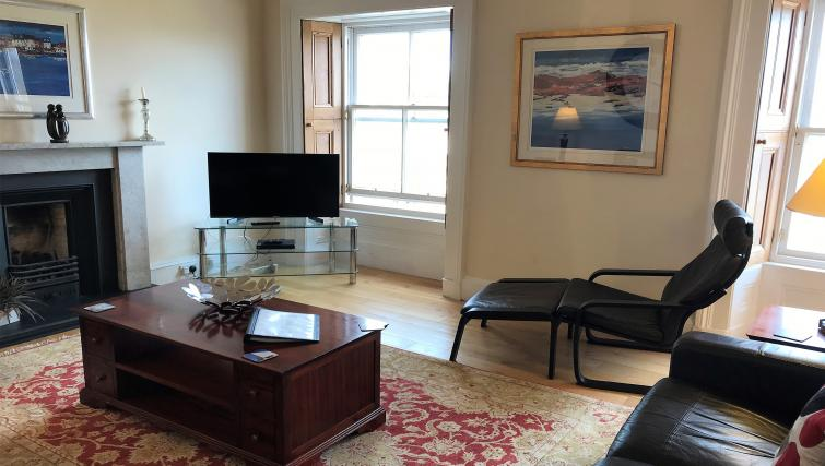 Living room at Crown Circus Apartment - Citybase Apartments