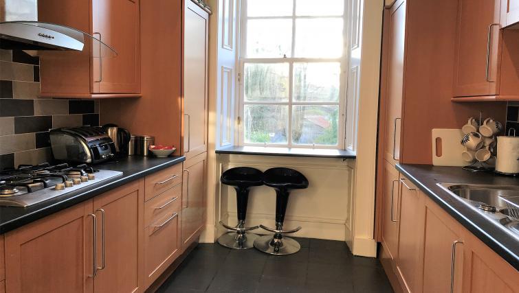 Kitchen facilities at Crown Circus Apartment - Citybase Apartments