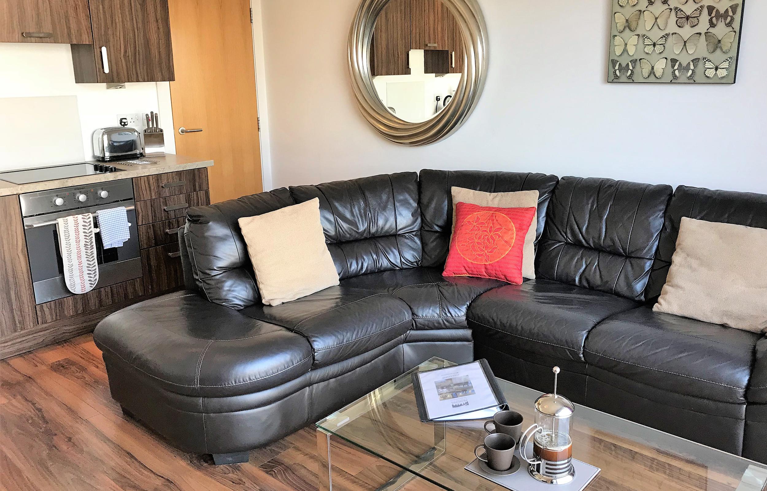 Sofa at Virginia Galleries Apartment - Citybase Apartments