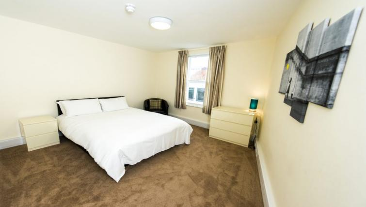 Bed at Derby Centre Apartments - Citybase Apartments
