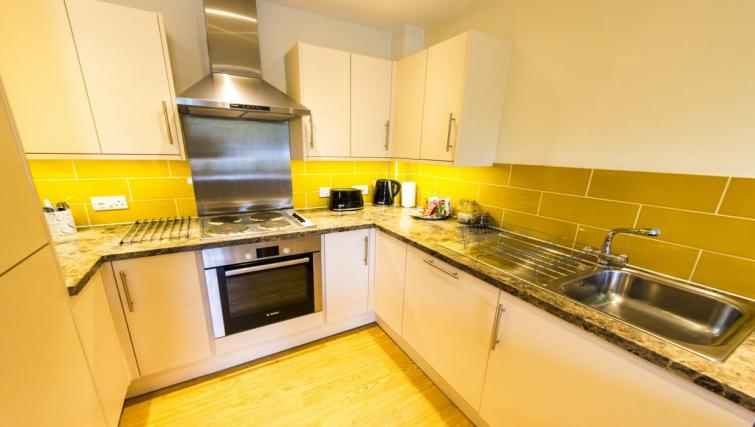 Equipped kitchen at Derby Centre Apartments - Citybase Apartments