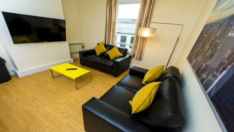 Stylish living area at Derby Centre Apartments - Citybase Apartments