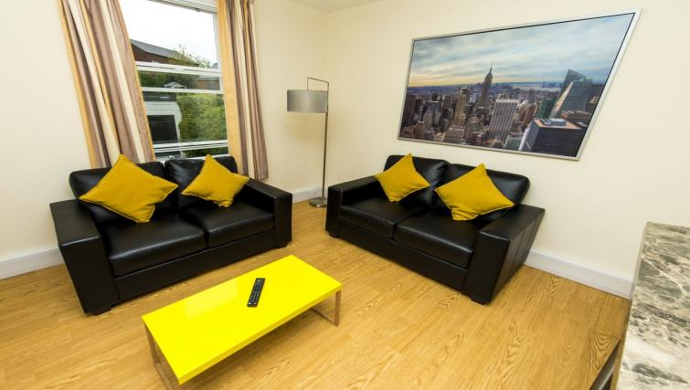 Cosy living area at Derby Centre Apartments - Citybase Apartments