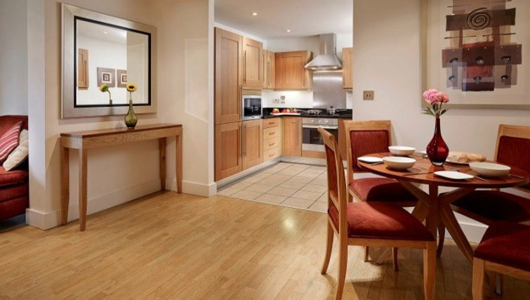 Open plan living area in Stratford Apartments - Citybase Apartments