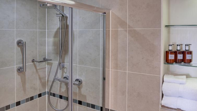 Shower room at Staybridge Suites Liverpool - Citybase Apartments