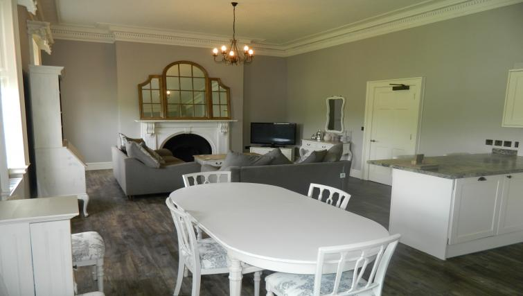 Comfortable living area at Birchover Bridgford Hall Apartments - Citybase Apartments