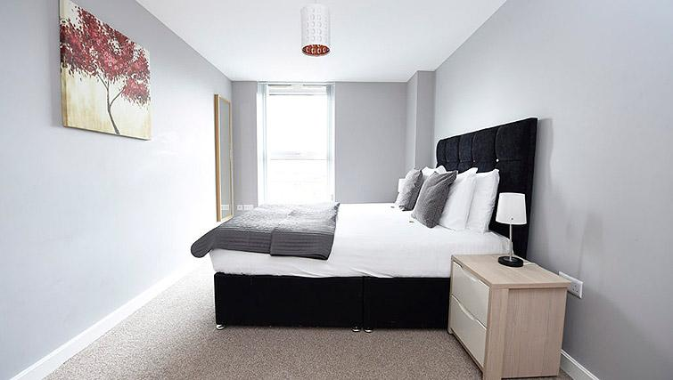 Bedroom at Dream Apartments Belfast Obel - Citybase Apartments