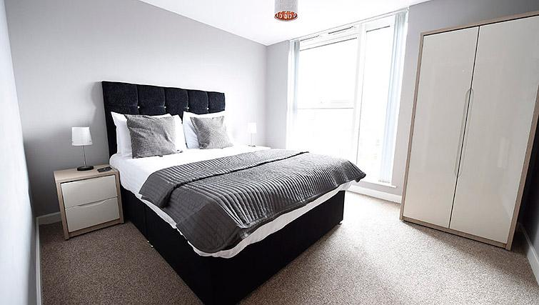 Comfy bed at Dream Apartments Belfast Obel - Citybase Apartments