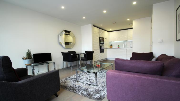 Living space at Angel Apartments - Citybase Apartments