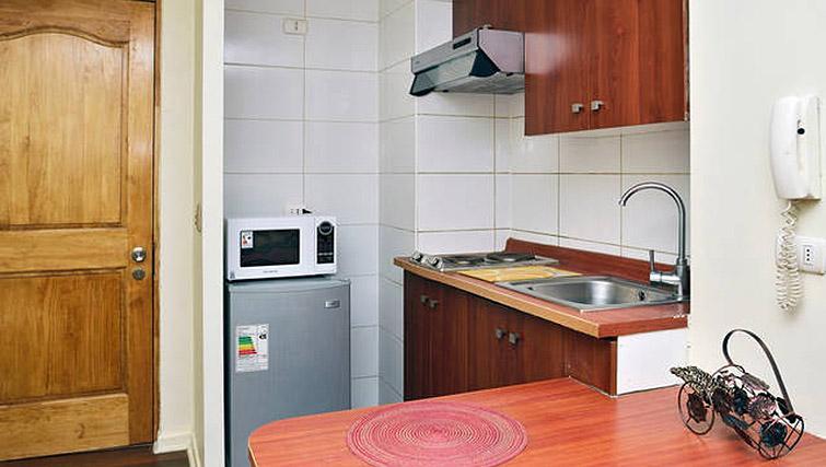 Studio kitchen at VIP Apartments Chile - Citybase Apartments