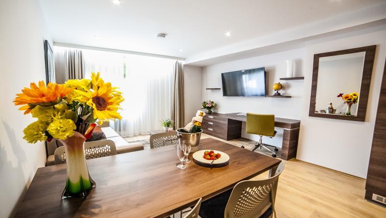 TV at the Hampton Suites Apartments - Citybase Apartments