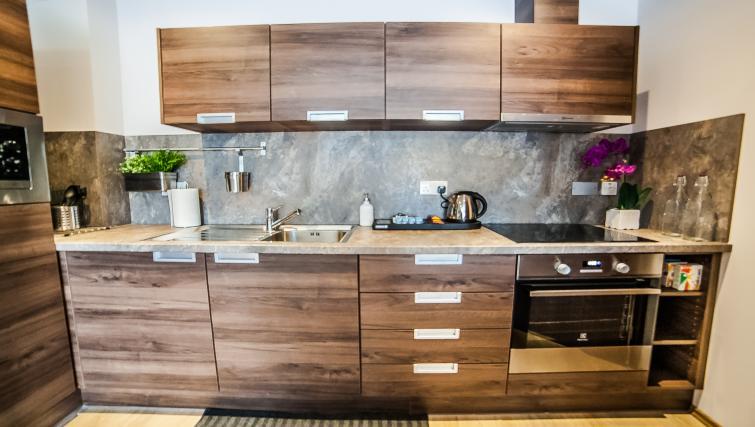 Kitchen facilities at the Hampton Suites Apartments - Citybase Apartments