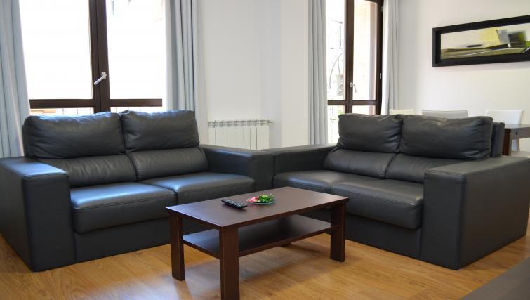 Comfortable lounge area at Palacio Apartments - Citybase Apartments