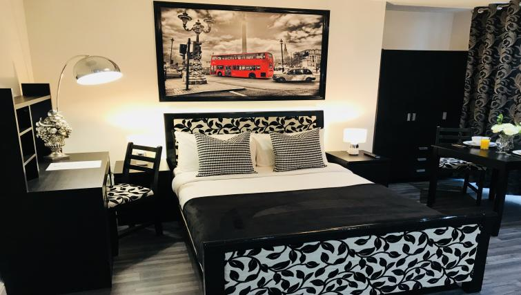 Modern bedroom at So Hammersmith Apartments - Citybase Apartments