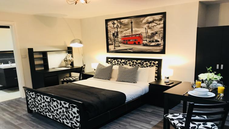Spacious bedroom at So Hammersmith Apartments - Citybase Apartments