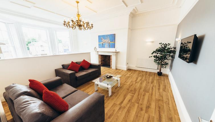 Stylish living area at Friar Gate Derby Apartments - Citybase Apartments