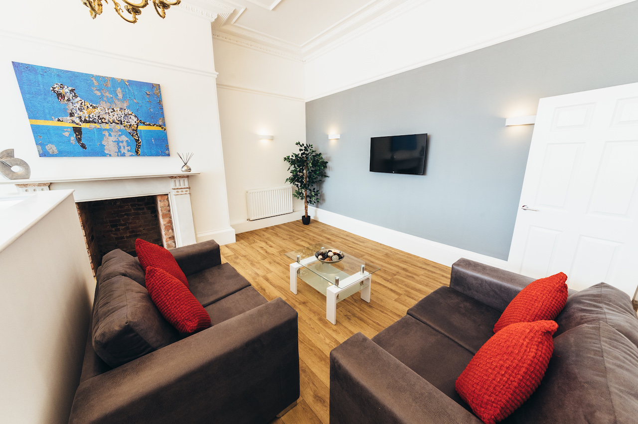 Living area at Friar Gate Derby Apartments - Citybase Apartments