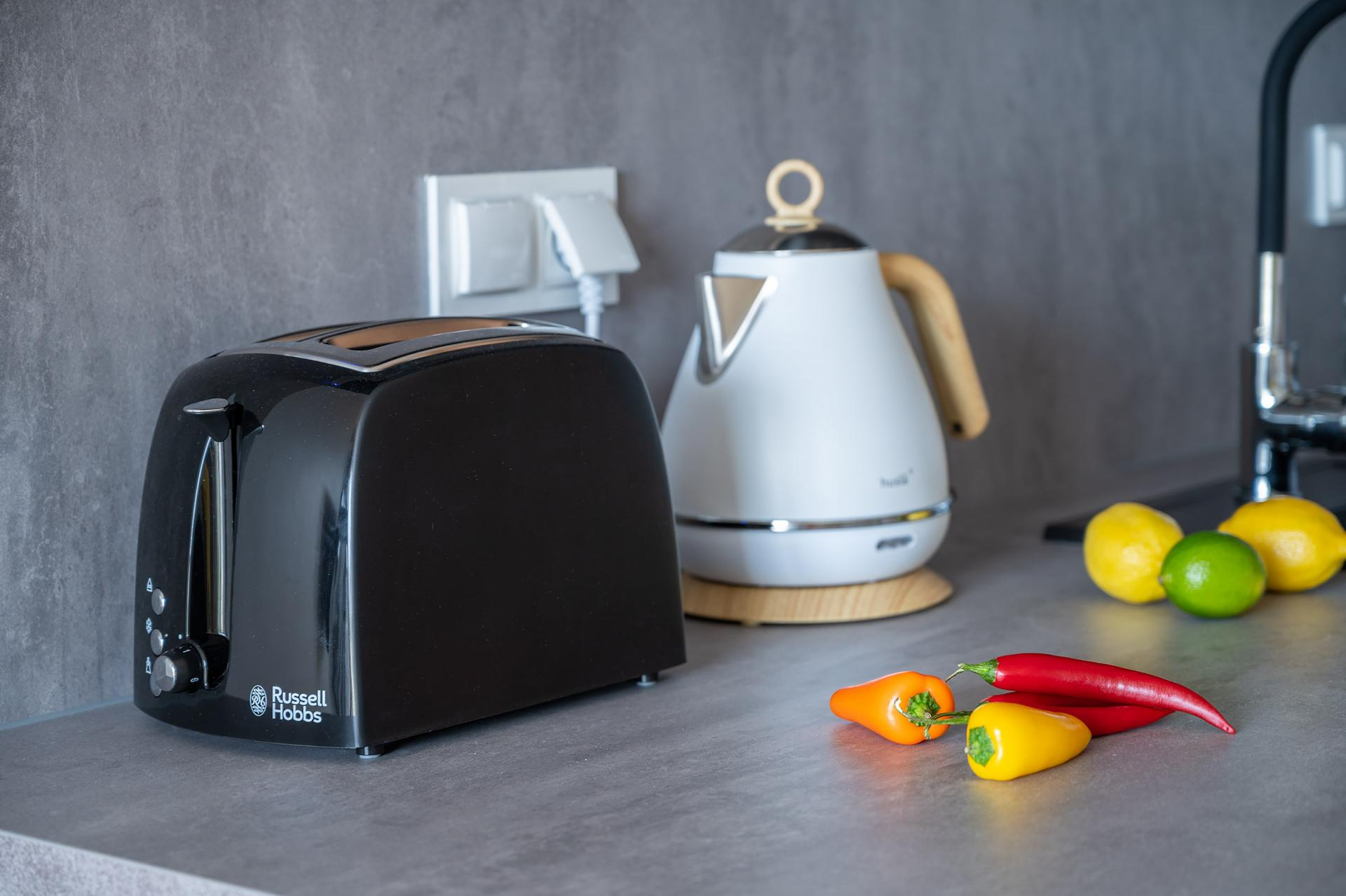 Kitchen appliances at Cybernetyki 4 Apartment, Sluzewiec, Warsaw - Citybase Apartments