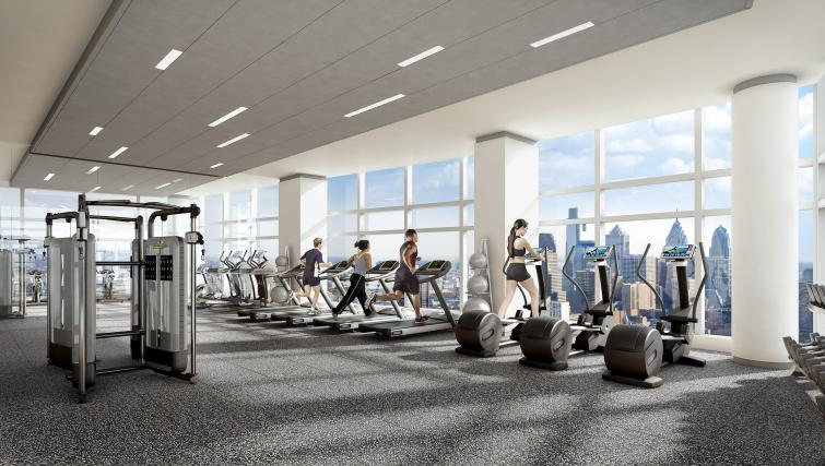 Gym at the University City Apartments - Citybase Apartments