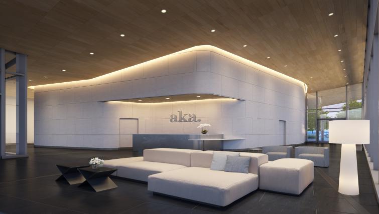 Reception area at the University City Apartments - Citybase Apartments
