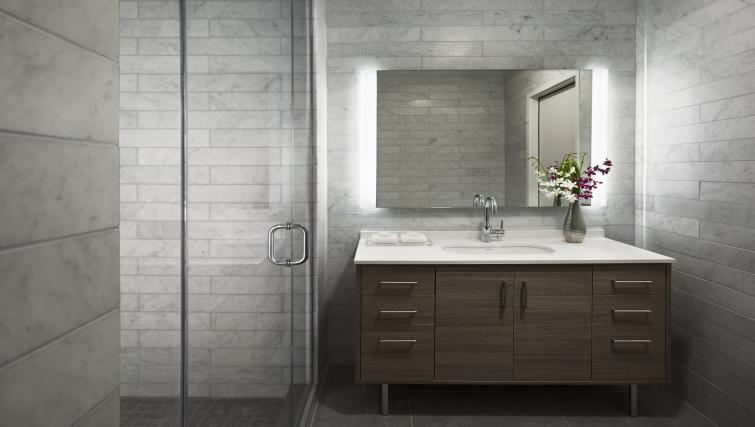 Bathroom facilities at the University City Apartments - Citybase Apartments