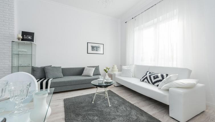 Comfortable living area at P&O Apartments Andersa - Citybase Apartments