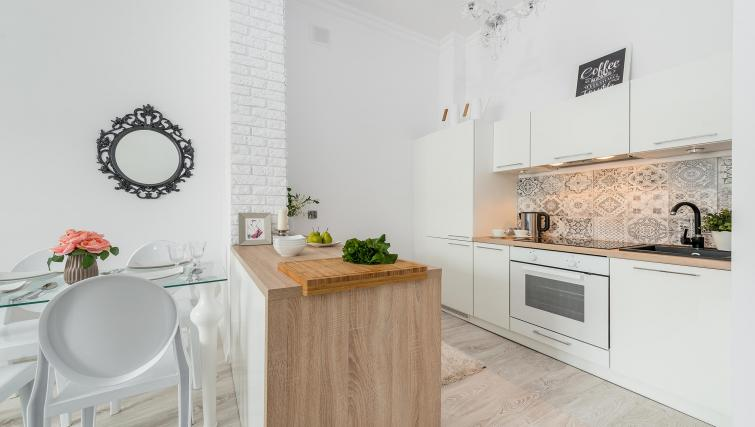 Fully equipped kitchen at P&O Apartments Andersa - Citybase Apartments