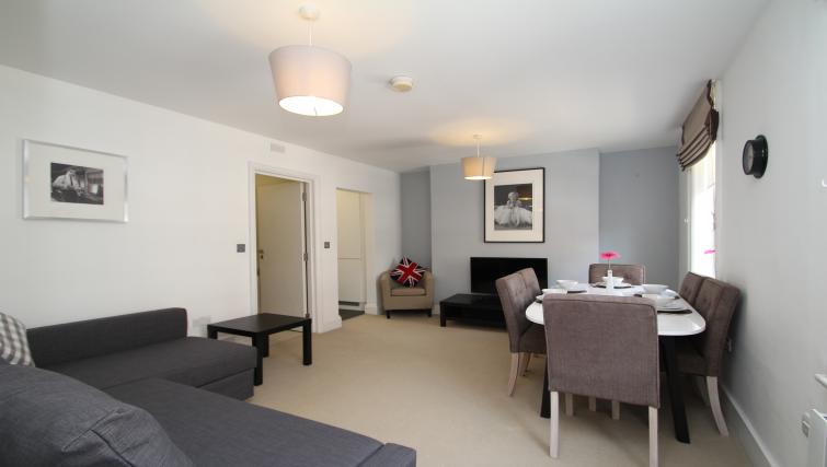 Spacious living area and dining table at Picton Place Apartments - Citybase Apartments